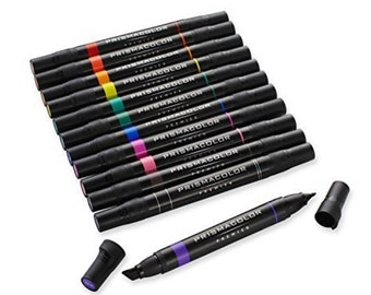 Prismacolor Premier 12 Art Markers - Primary and Secondary Colors