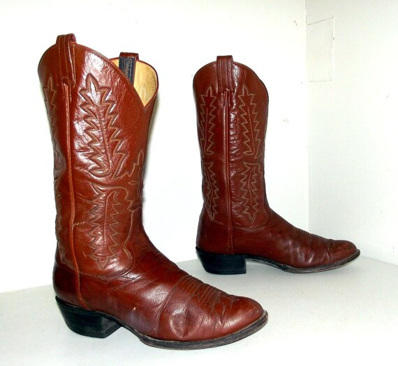 10 Panhandle Boots size D 11 mens style Slim size womens cowboy or brand 5 Brown Western wCqIzxR