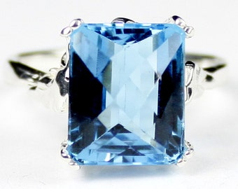 Swiss Blue Topaz , 925 Sterling Silver Ring, SR188