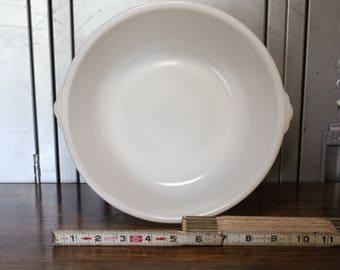 Large GE Milk Glass Mixing Bowl