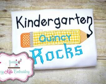 School Shirt, Back to School Shirt, Kindergarten Rocks shirt, First Grade Rocks Shirt, Second Grade Rocks Shirt, Third Grade Rocks Shirt