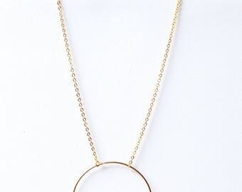 Round necklace - Metal color gold