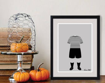 Pugsley Addams Poster/Print - minimalist the addams family gomez morticia pugsley thing hand wednesday addams halloween poster art decor