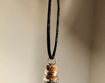 Time in a Bottle Clockwork Necklace