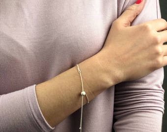 Delicate sterling silver Bracelet, Dainty Chain Bracelet, Thin silver Chain, Layering Bracelet Valentines gifts for her Multi Chain Bracelet