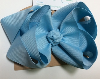 Light Blue Hair Bow, Large Blue Hair Bow, Blue Bow