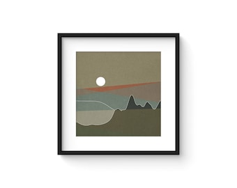 LANDSCAPE & BEYOND no.102 - Abstract Modern Minimalist Landscape Mid Century Style Art Print