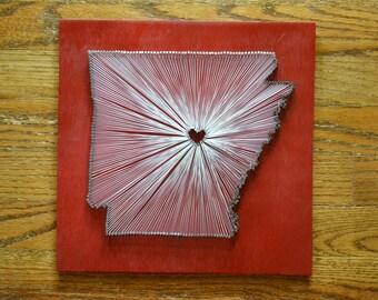 Arkansas State String Art - Arkansas Razorbacks