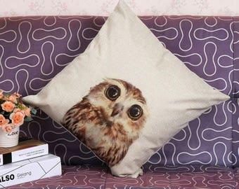 Owl Pillow 1   18 X 18  free shipping