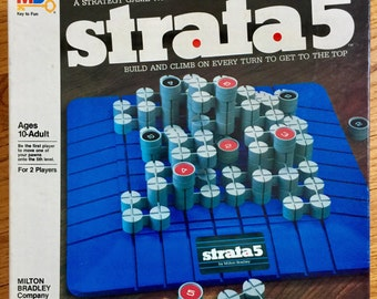 Vintage 1980s Game / Milton Bradley Strata 5 Board Game 1984 VGC / A Strategy Game With A Daring Dimension