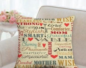 Mothers Day Texted Pillow