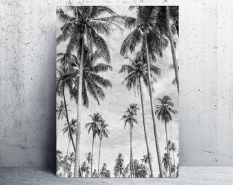 Palm trees print, gray home decor, grey home decor, wanderlust art, printable art, printable, art print, printable wall art, digital prints