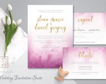 Watercolor Invitation Suite