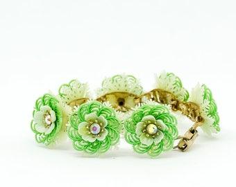 Vintage Coro Bracelet - Flower Bracelet - Vintage Bracelet - Vintage Floral Bracelet - Gift for her - Mom Gift - Fashionista Gift