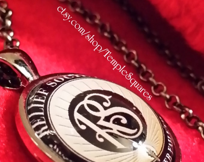 Jewelry Relief Society Emblem Pendant Necklace LDS Charity Never Faileth. New prices. Only 5 Dollars each necklace any quantity!