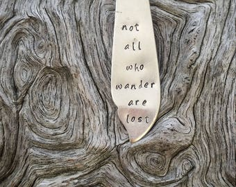 Hand Stamped 'Not all who wander are lost' Pendant