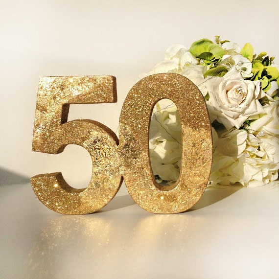 Gold 50th Anniversary Birthday Gift 24carat Gold Leaf And