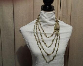 Yarn Jewelry Necklace