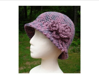 Down Brim Cloche - PA-107 - Crochet Pattern PDF