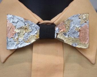 Multi Metallic 2 Sided Bow Tie