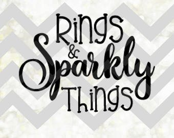 Rings and Sparkly Things SVG/Digital/Rings&Things/Cutting Image/Wedding/Vector/Trinket Idea/Instant Download