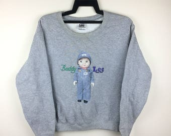 Vintage LEE Buddy Lee Union Made Sweatshirt Size XS twmYBrJf