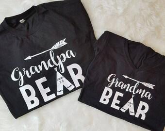 Grandpa & Grandma Bear T-shirt set