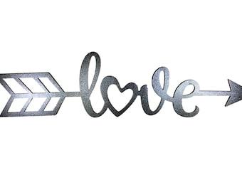 Metal Sign - Love Arrow