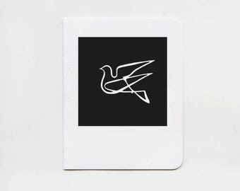 Dove Black Greeting Cards - Set of 5 Note Cards