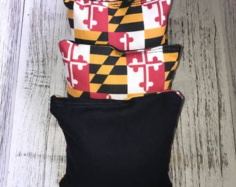 Maryland/Black Corn hole bags