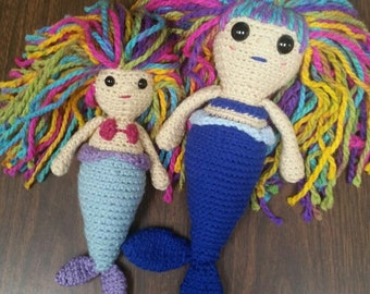 Custom Crochet Mermaid, Mermaid Doll, Plush Mermaid, Kids Birthday Gift, Toy Mermaid, Amigurumi Mermaid, Design Your Mermaid, Made to Order