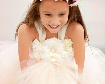 Blush Flower Girl Dress, Blush Tutu Dress, Blush Tulle Dress, Blush Dress, Blush Wedding, Blush