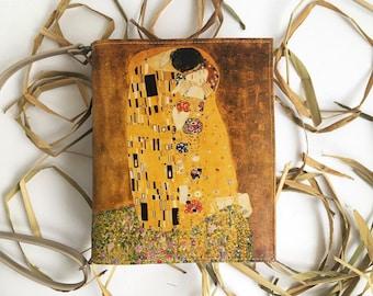 Klimt Kiss Book Bag Gustav Klimt Book Purse