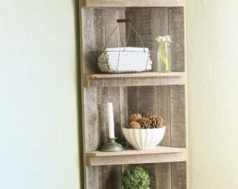Reclaimed Wood, Pallet Curio, Corner Curio, Custom Designs, 5 Shelf, Custom