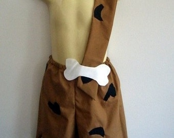 Bam Bam costume - boy - shorts with strap - Halloween