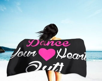 Blinged Dance Your Heart Out Beach Towel