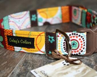 "Dog Collar ""The Jasmine"" Modern Floral Dog Collar"