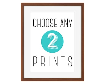 Choose any 2 prints from The Joyful Fox - multiple sizes available!