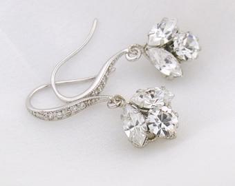 Bridal earrings - bridesmaids earrings - crystal wedding earrings - dainty bridal earrings - crystal drop earrings - Idaho earrings