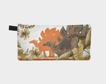 Jurassic Zip Pouch - Orange