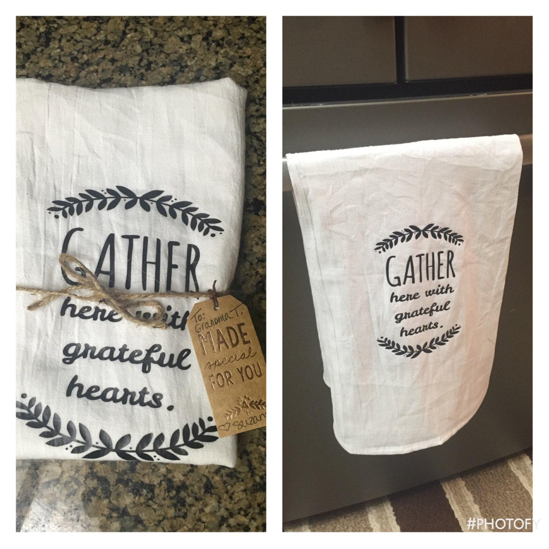Tea Towels Unique: ON SALE Tea Towel Personalized Kitchen Towel Personalized
