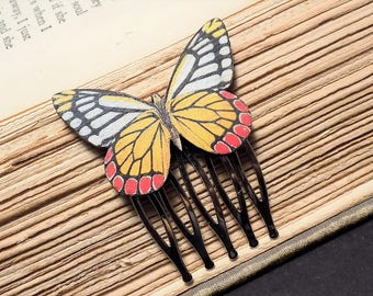 Sunset Butterfly Hair Comb