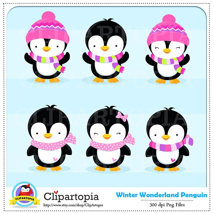 penguin clipart winter penguin wonderland digital clipart rh etsystudio com winter wonderland clipart free winter wonderland clipart images
