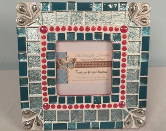 Christmas Green Mosaic Picture Frame