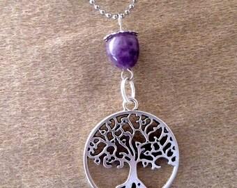 beautiful tree of life Amethyst pendant