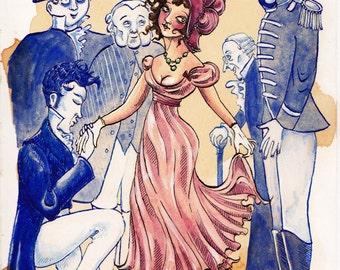 Vanity Fair by William Makepeace Thackeray - ORIGINAL ART