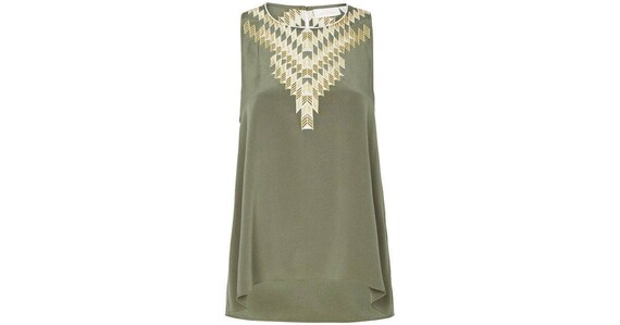 Sass and Bide Brave New World silk khaki tank top Size 38 8 new with tags
