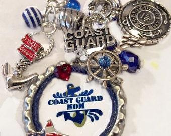 Coast Guard Mom KeyChain/PurseCharm