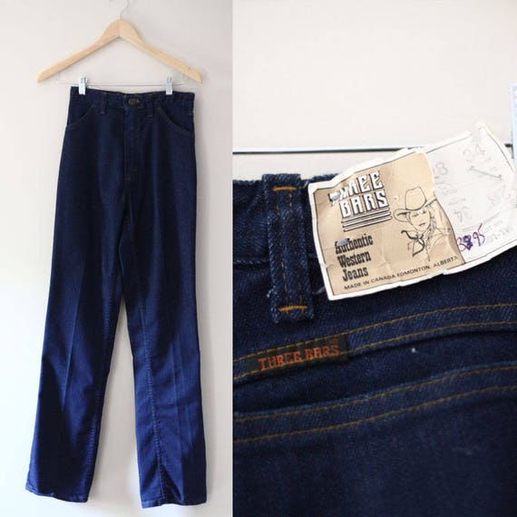 1970s Three Bars jeans // vintage Western denim // vintage jeans
