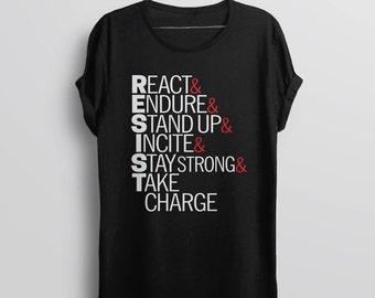 Anti Trump Resist Shirt | resist trump shirt, resist tshirt, resistance shirt, protest trump shirt, march t shirt, political tee shirt women